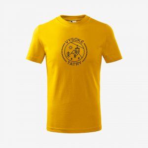 Detské tričko Vysoké Tatry žlté